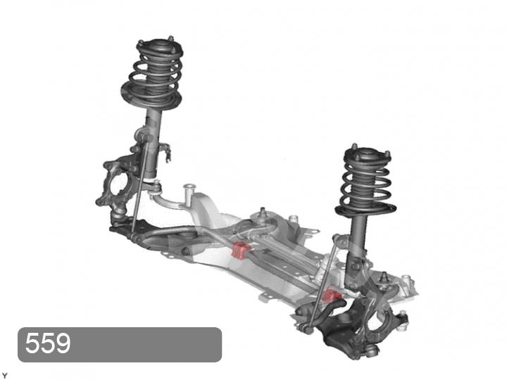 Замена втулок переднего стабилизатора Toyota RAV 4 XA30 (фото 1)