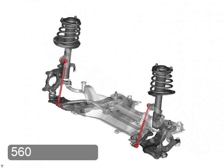 Замена стоек переднего стабилизатора Toyota RAV 4 XA30 (фото 1)