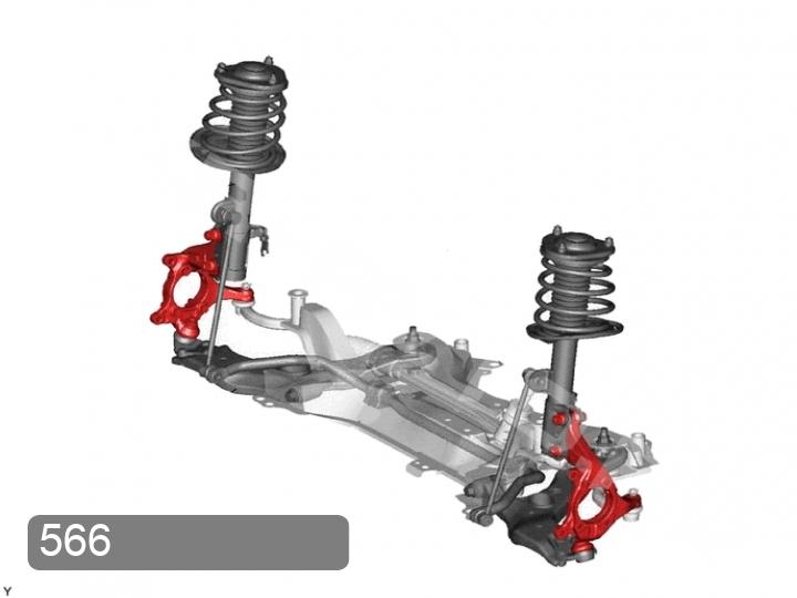 Замена кулака переднего правого Toyota RAV 4 XA30 (фото 1)
