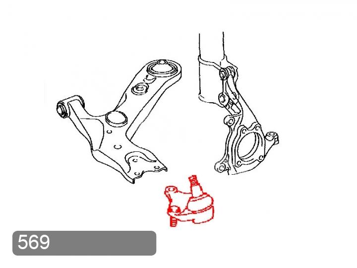 Замена шаровой опоры передней Toyota RAV 4 XA30 (фото 1)