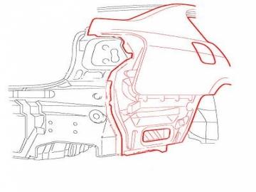 Toyota Camry V50 — Замена заднего правого крыла